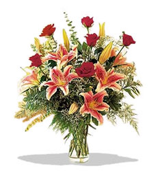 Bartın çiçek servisi , çiçekçi adresleri  Pembe Lilyum ve Gül