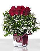 Bartın çiçek , çiçekçi , çiçekçilik  11 adet gül mika yada cam - anneler günü seçimi -