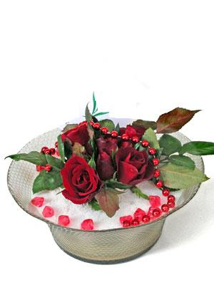 Bartın çiçek siparişi vermek  EN ÇOK Sevenlere 7 adet kirmizi gül mika yada cam tanzim
