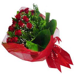 Bartın kaliteli taze ve ucuz çiçekler  12 adet kirmizi essiz gül buketi - SEVENE ÖZEL