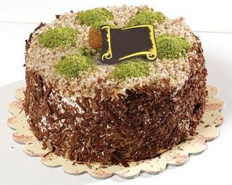 pasta gönderme 4 ile 6 kisilik çikolatali yas pasta  Bartın çiçek satışı