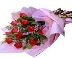 11 adet kirmizi güllerden görsel buket  Bartın çiçek gönderme sitemiz güvenlidir