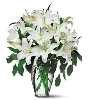 Bartın internetten çiçek satışı  4 dal kazablanka ile görsel vazo tanzimi