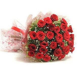 27 Adet kırmızı gül buketi  Bartın ucuz çiçek gönder