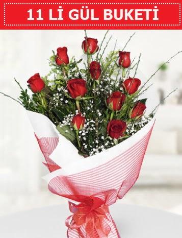 11 adet kırmızı gül buketi Aşk budur  Bartın çiçek gönderme sitemiz güvenlidir