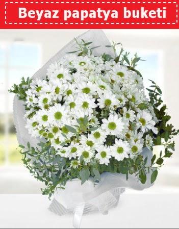 Beyaz Papatya Buketi  Bartın 14 şubat sevgililer günü çiçek