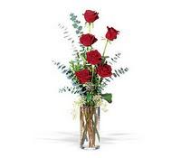 Bartın hediye çiçek yolla  cam yada mika vazoda 6 adet kirmizigül