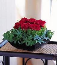 Bartın çiçek siparişi sitesi  10 adet kare mika yada cam vazoda gül tanzim