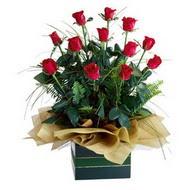 Bartın internetten çiçek satışı  10 adet kirmizi gül özel mika yada cam vazoda