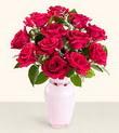 Bartın hediye çiçek yolla  10 kirmizi gül cam yada mika vazo tanzim