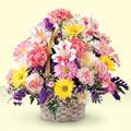 Bartın uluslararası çiçek gönderme  sepet içerisinde gül ve mevsim