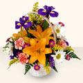 Bartın 14 şubat sevgililer günü çiçek  sepet içinde karisik çiçekler