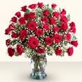 Bartın çiçekçiler  33 adet kirmizi gül cam yada mika vazoda