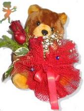 oyuncak ayi ve gül tanzim  Bartın çiçekçiler