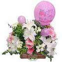 balon ve çiçeklerle tanzim  Bartın internetten çiçek satışı