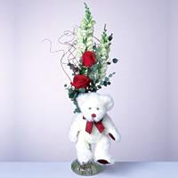 2 adet gül ve panda özel  Bartın çiçekçi mağazası