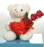 3 adetgül ve oyuncak   Bartın online çiçekçi , çiçek siparişi