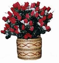yapay kirmizi güller sepeti   Bartın kaliteli taze ve ucuz çiçekler