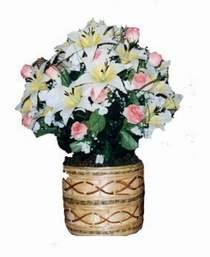 yapay karisik çiçek sepeti   Bartın çiçek servisi , çiçekçi adresleri