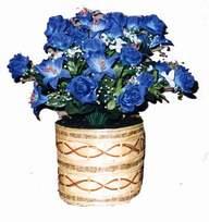 yapay mavi çiçek sepeti  Bartın cicekciler , cicek siparisi