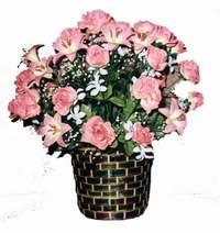 yapay karisik çiçek sepeti  Bartın çiçek online çiçek siparişi