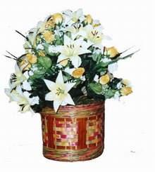 yapay karisik çiçek sepeti   Bartın cicekciler , cicek siparisi