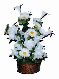 yapay karisik çiçek sepeti  Bartın çiçek siparişi vermek
