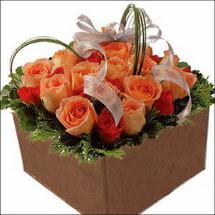 kare sandikta 11 gülllerden   Bartın çiçekçi mağazası