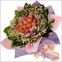 11  adet  gül ve   elyaflar   Bartın çiçekçi mağazası