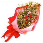 12 adet renkli  gül buketi   Bartın çiçekçi mağazası