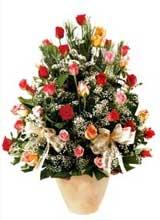 91 adet renkli gül aranjman   Bartın çiçek gönderme sitemiz güvenlidir