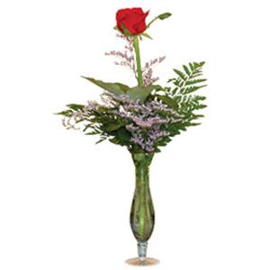 vazo içerisinde tek gül   Bartın çiçek gönderme sitemiz güvenlidir