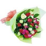 12 adet renkli gül buketi   Bartın çiçek gönderme sitemiz güvenlidir