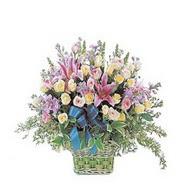 sepette kazablanka ve güller   Bartın çiçek gönderme