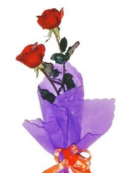 2  adet kirmizi gül buketi   Bartın çiçek , çiçekçi , çiçekçilik