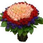 71 adet renkli gül buketi   Bartın ucuz çiçek gönder