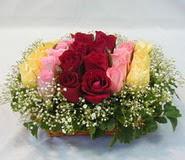 15 adet reprenkli gül sepeti   Bartın çiçek yolla