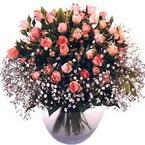 büyük cam fanusta güller   Bartın çiçek yolla