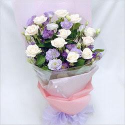 Bartın internetten çiçek satışı  BEYAZ GÜLLER VE KIR ÇIÇEKLERIS BUKETI