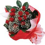 Bartın internetten çiçek satışı  KIRMIZI AMBALAJ BUKETINDE 12 ADET GÜL
