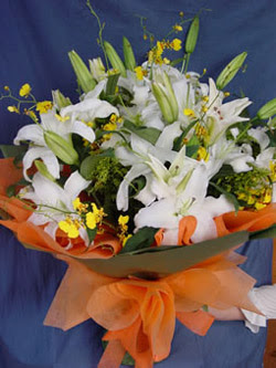 Bartın internetten çiçek satışı  5 ADET KAZABLANKA BUKETI KALITEDEN SASMAYANLARA