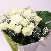 Bartın hediye çiçek yolla  11 adet sade beyaz gül buketi