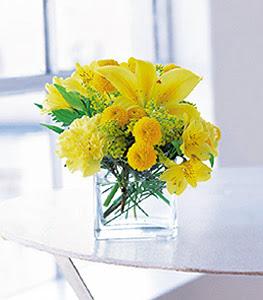Bartın ucuz çiçek gönder  sarinin sihri cam içinde görsel sade çiçekler
