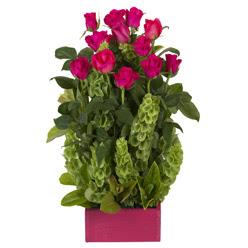 12 adet kirmizi gül aranjmani  Bartın çiçek mağazası , çiçekçi adresleri
