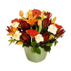 mevsim çiçeklerinden karma aranjman  Bartın çiçek yolla , çiçek gönder , çiçekçi