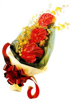özel 5 adet antorium buketi   Bartın çiçek gönderme sitemiz güvenlidir