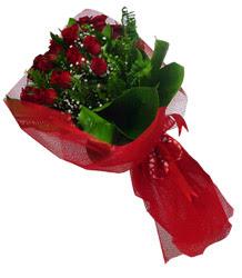 Bartın çiçek gönderme sitemiz güvenlidir  10 adet kirmizi gül demeti
