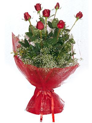 Bartın çiçek servisi , çiçekçi adresleri  7 adet gülden buket görsel sik sadelik