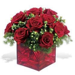 Bartın çiçek yolla  9 adet kirmizi gül cam yada mika vazoda
