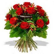 9 adet kirmizi gül ve kir çiçekleri  Bartın internetten çiçek satışı